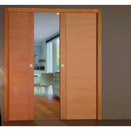 Casoneto doble hoja a medida planenta madera - Casoneto para puerta corredera ...