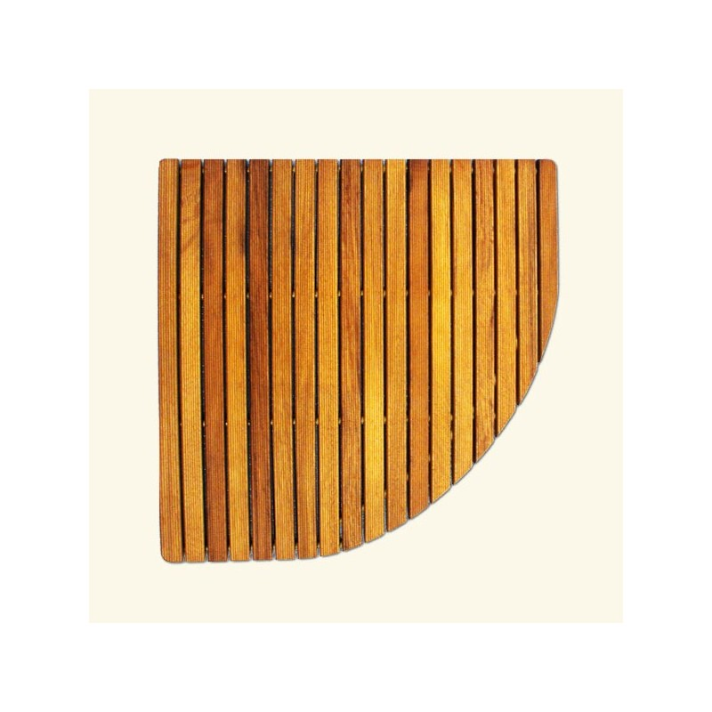 Tarimas para ducha redondeadas 1 4 de circulo for Tarimas de madera para duchas