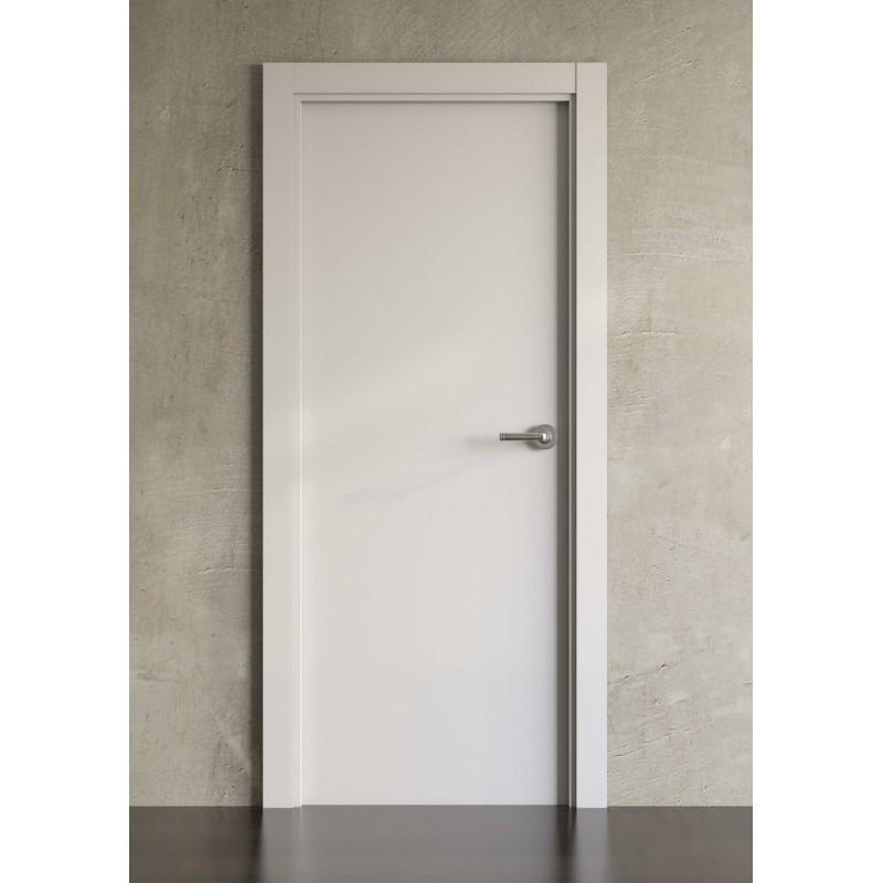 Puerta lacada en blanco block modelo 1000 planeta madera for Puertas en block precios
