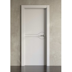 Puerta lacada en blanco Block modelo 1002