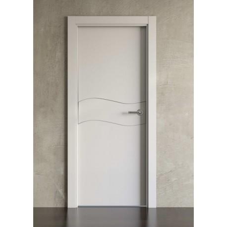 Puerta lacada en blanco Block modelo 1003