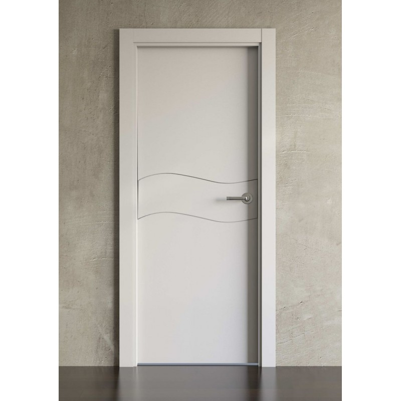 Puerta lacada en blanco block modelo 1003 planeta madera - Puertas de madera lacadas en blanco ...