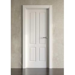 Puerta lacada en blanco Block modelo clásica 4br