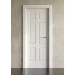 Puerta lacada en blanco Block modelo clásica 6br