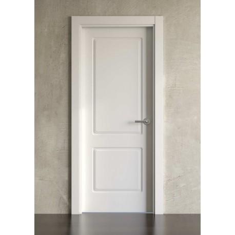 Puerta lacada en blanco block modelo cl sica 600 planeta madera - Puertas lacadas en blanco opiniones ...