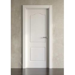 Puerta lacada en blanco Block modelo clásica 602