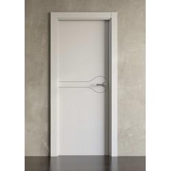 Puerta lacada en blanco modelo 1002