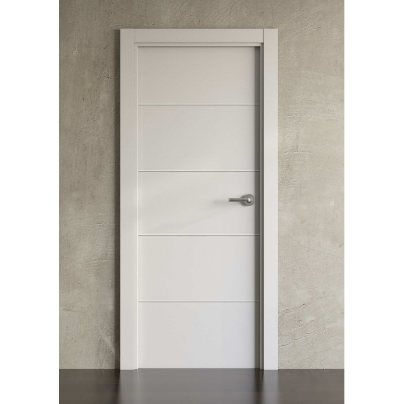 Puerta lacada en blanco simple modelo 2003 planeta madera - Precios puertas lacadas en blanco ...
