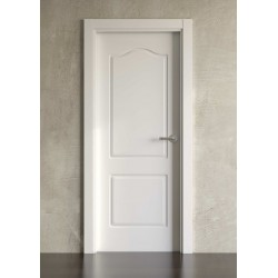 Puerta lacada en blanco modelo clásica 602