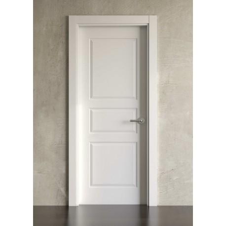 Puerta lacada en blanco Simple modelo clásica 3br