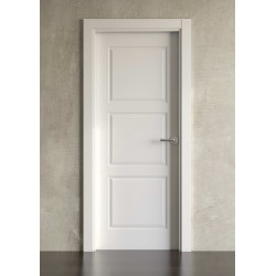Puerta lacada en blanco modelo clásica 3cr