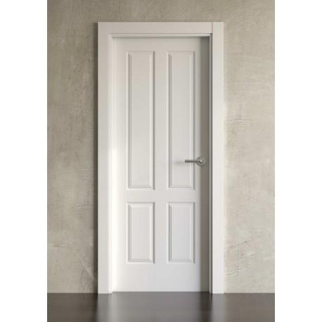 Puerta lacada en blanco Simple modelo clásica 4br
