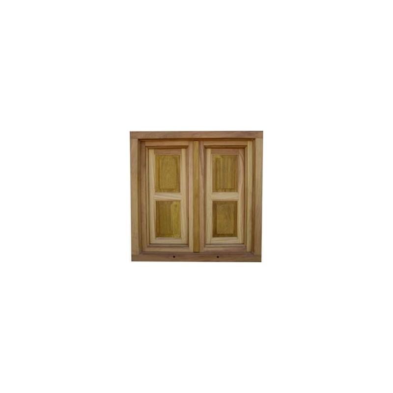 Ventana de madera de pino con ventanillos planeta madera for Zapateros de madera de pino