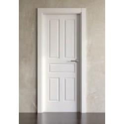 Puerta lacada en blanco modelo clásica 5br