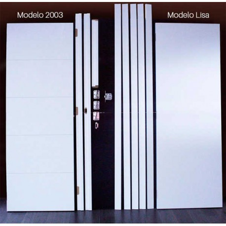 Kit Puerta Lisa y 2003 Lacada Blanca