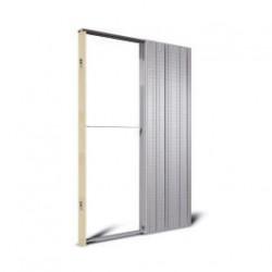 Casoneto metálico para puerta corredera
