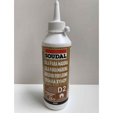 Cola madera secado rápido D2 Soudal