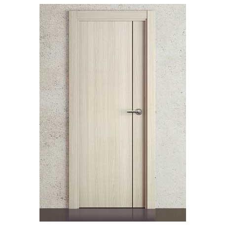 Puerta Vinilo 2D Block G1007 Vanile con Greca Negra