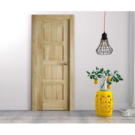 Puerta Polimero 3D Block Maciza Aligerada 4C Roble Labriego