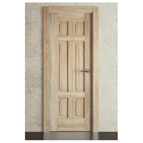 Puerta Polimero 3D Block Maciza Aligerada 6B Roble Labriego
