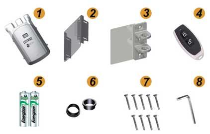 kit cerradura invisible