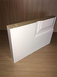 puerta lacada maciza
