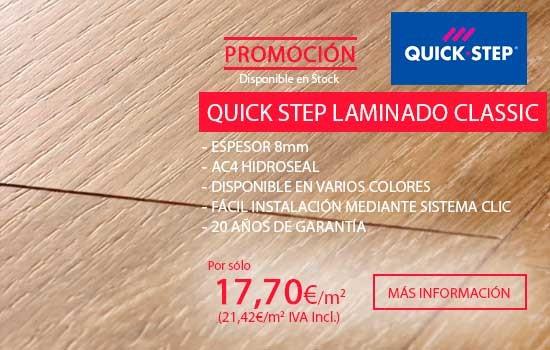 Promoción Suelo Laminado Quick Step Classic