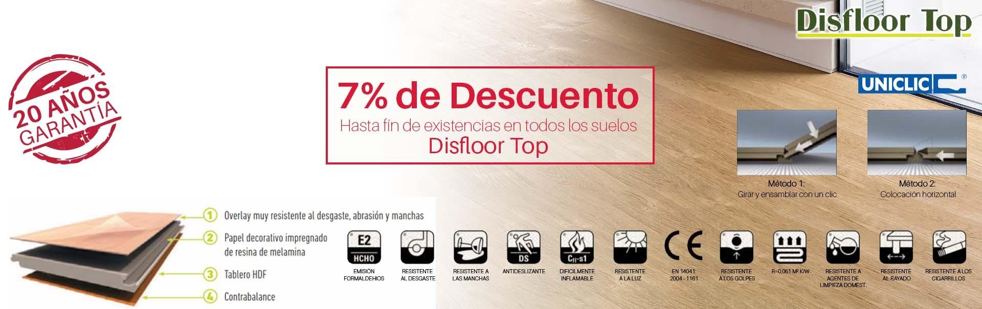 7% Dto. en Suelos de Madera Disfloor Top
